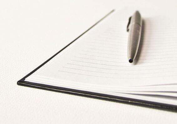 Offenes Notizbuch